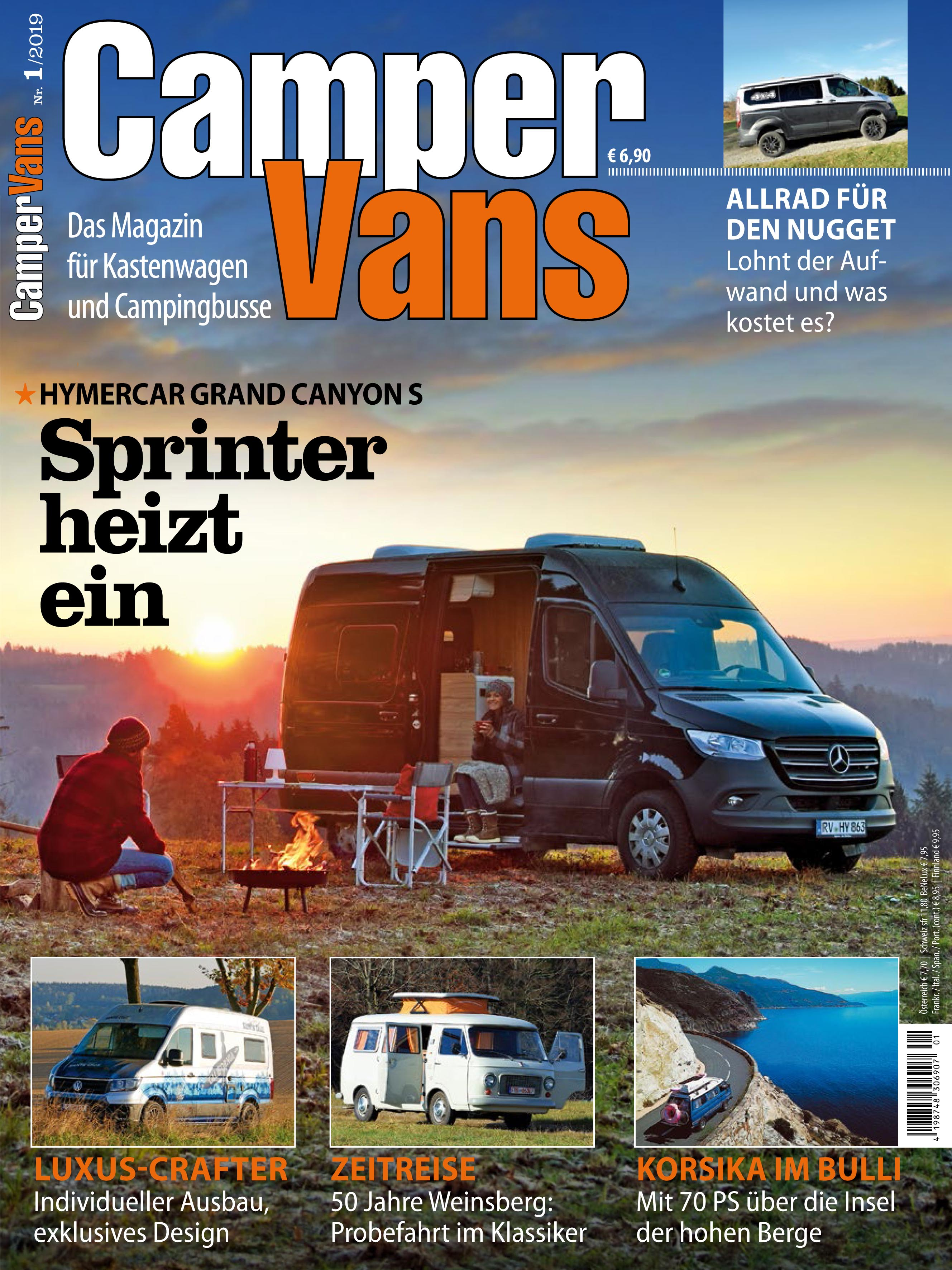 CamperVans Ausgabe Nr.01/2019