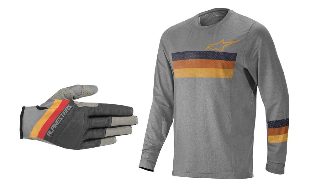 Mountainbike-Zubehör: Alpinestars Mountainbike Triko und Handschuhe