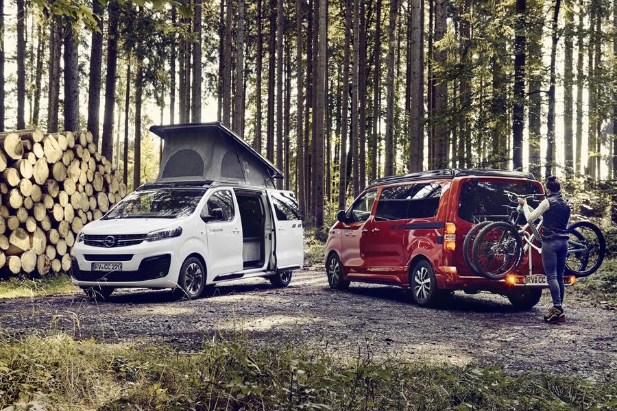 Crosscamp Lite auf Opel Zafira und Toyota Proace