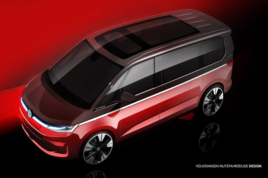 VW T7 Multivan Designskizze